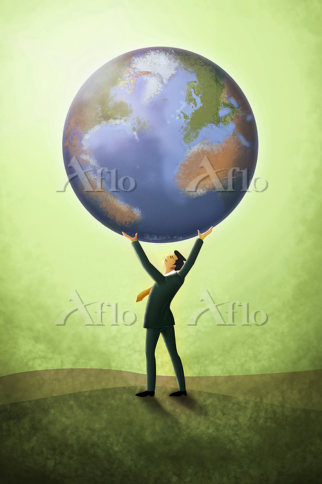 Illustration of businessman ho・・・