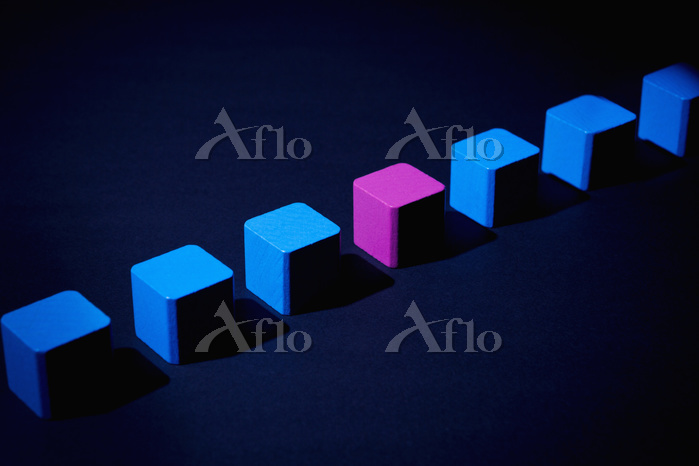 Toy blocks in a row