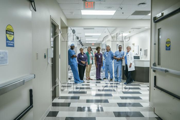 Portrait of medical team in ho・・・