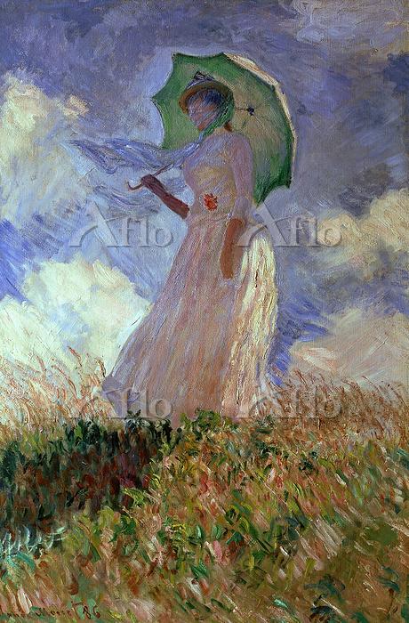 クロード・モネ 「日傘をさす女性」