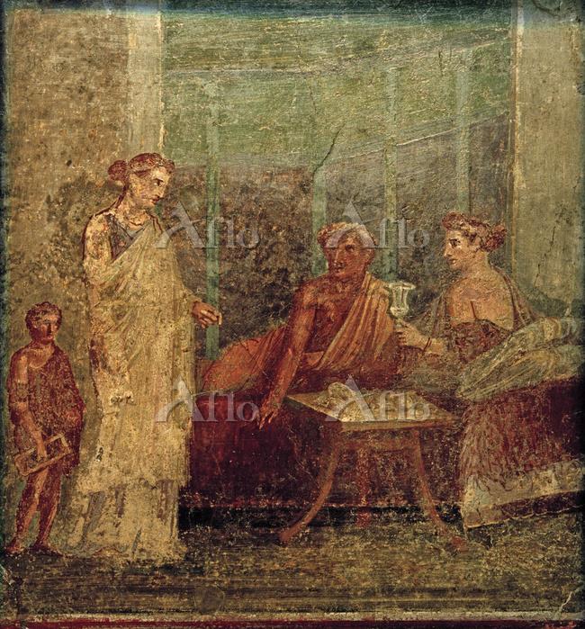 "Roman, 50 - 79 AD.  Fresco ""Ba・・・"