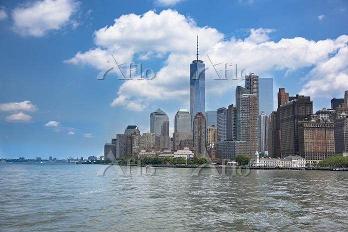 アメリカ合衆国 ニューヨーク 海上からのマンハッタン