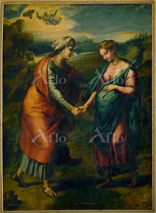 ラファエロ 「聖母マリアの聖エリサベツ訪問」