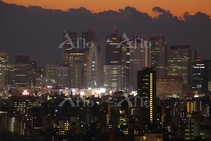 東京都 新宿の超高層ビル夜景