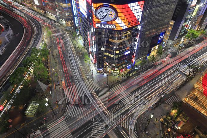 東京都 銀座 数寄屋橋交差点俯瞰