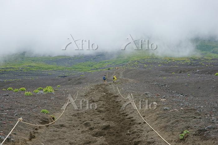山梨県/静岡県 富士登山 (7合目) 砂走り