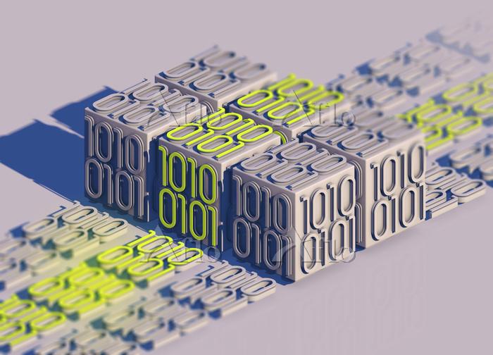 Blocks of bright binary code d・・・