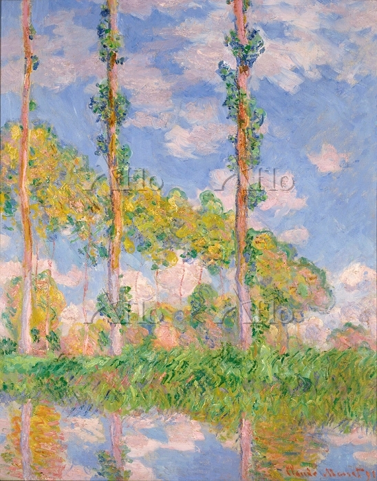 クロード・モネ 「陽を浴びるポプラ並木」