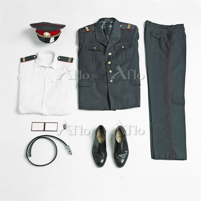Organized military uniform and・・・