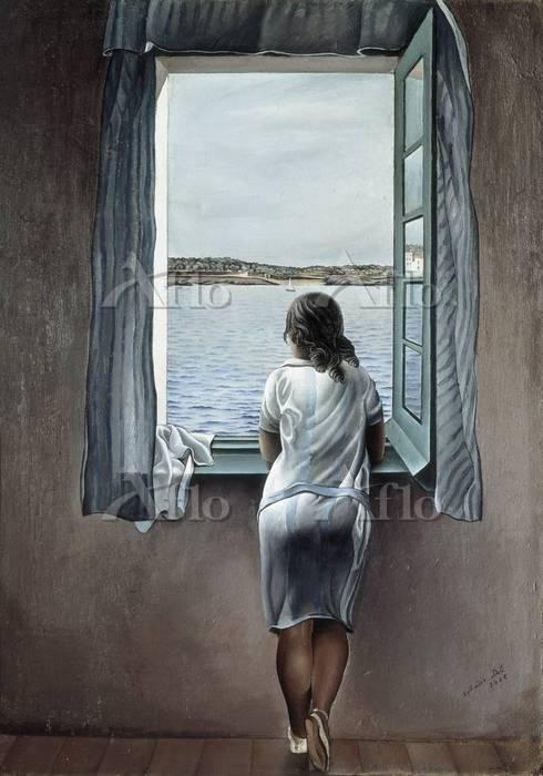 サルバドール・ダリ 「窓辺の人物(窓に寄る少女)」