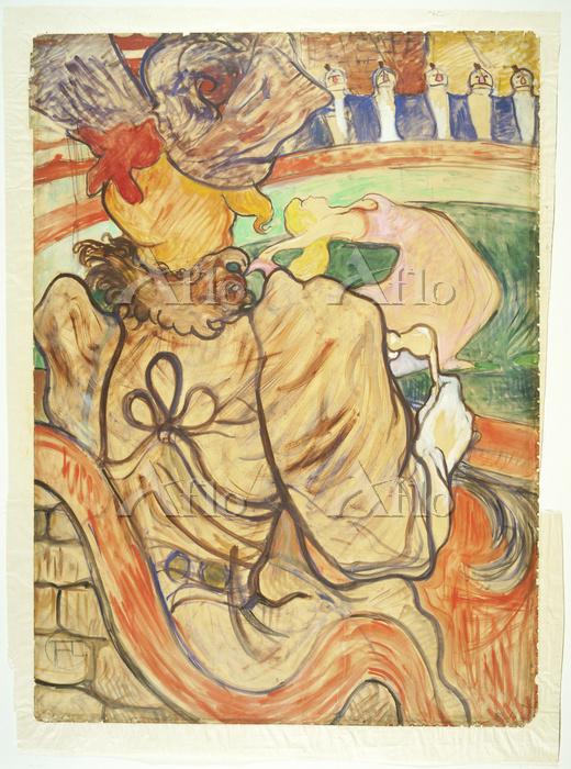 ロートレック 「ヌーヴォー・シルク:踊り子と5つの胸当て」