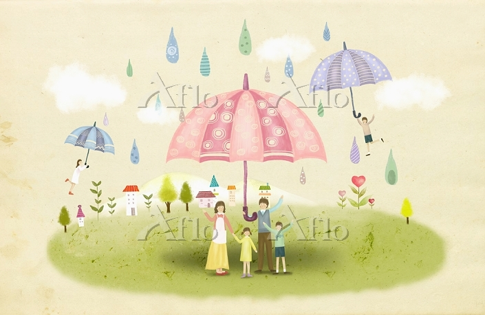 illustration of a family in a ・・・