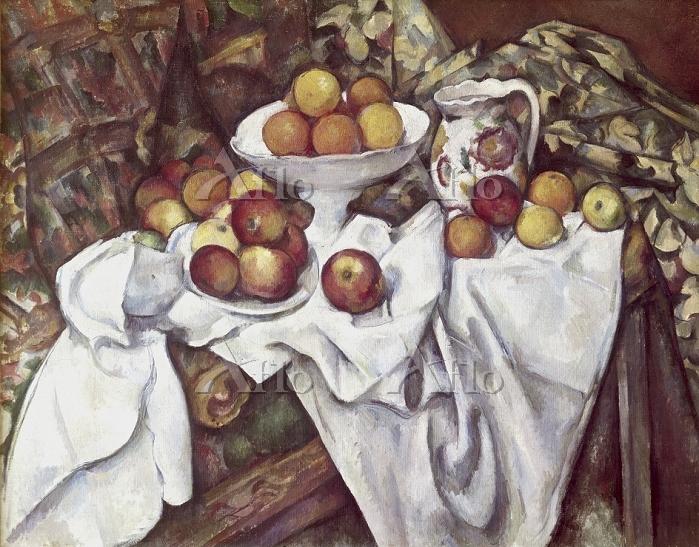 セザンヌ  「りんごとオレンジ」