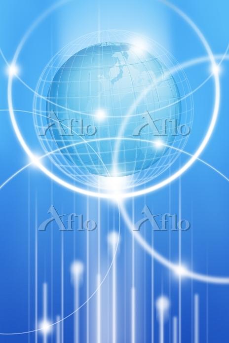 地球と光る線 CG