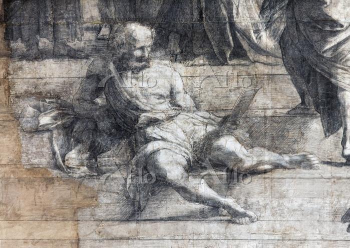 ラファエロ 「アテネの学堂」(部分)