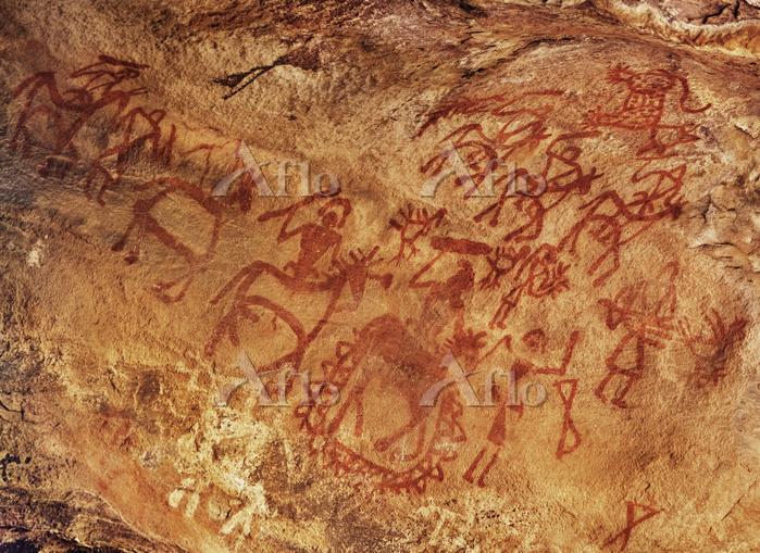 インド ビンベットカ 岩窟壁画 ロック・シェルター No.8