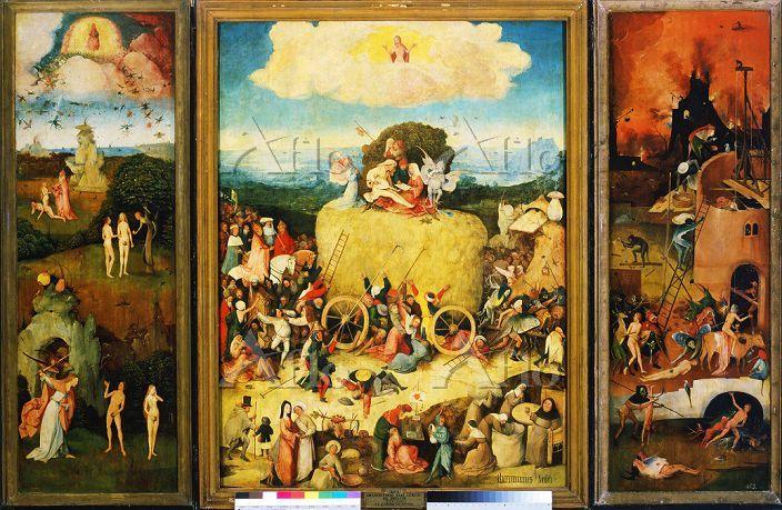 ヒエロニムス・ボス 「干草の車(三連祭壇画)」