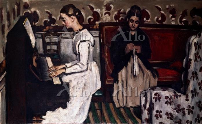 セザンヌ  「タンホイザー序曲(ピアノを弾く若い娘)」