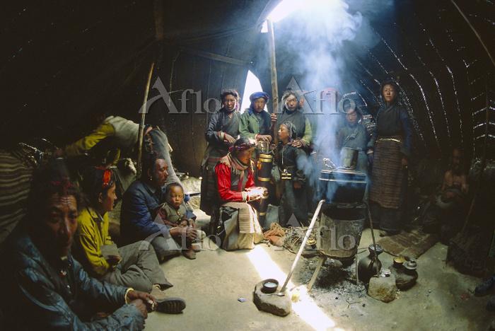 Dropka nomad family in Yak-hai・・・