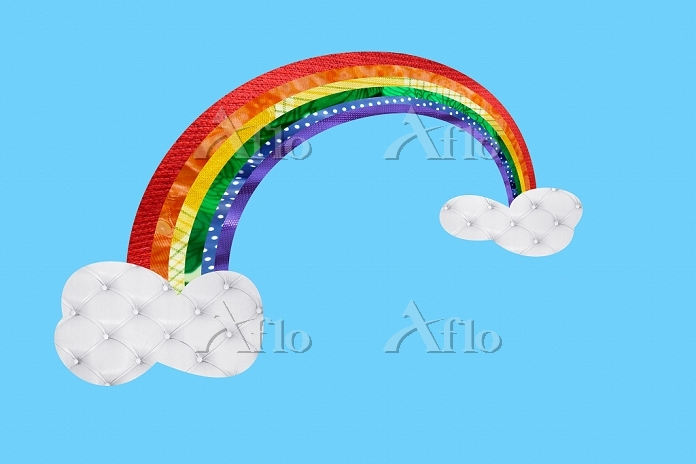 Rainbow and clouds