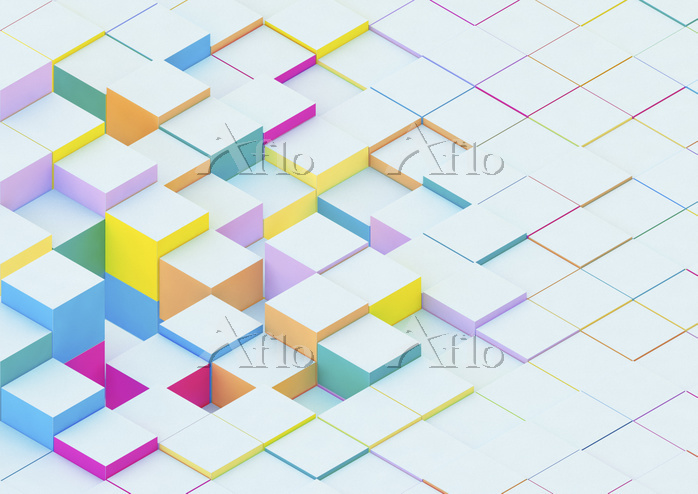 Blocks emerging to form uneven・・・