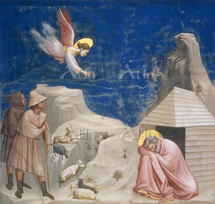 ジョット 「ヨアキムの夢(スクロヴェーニ礼拝堂壁画連作)」