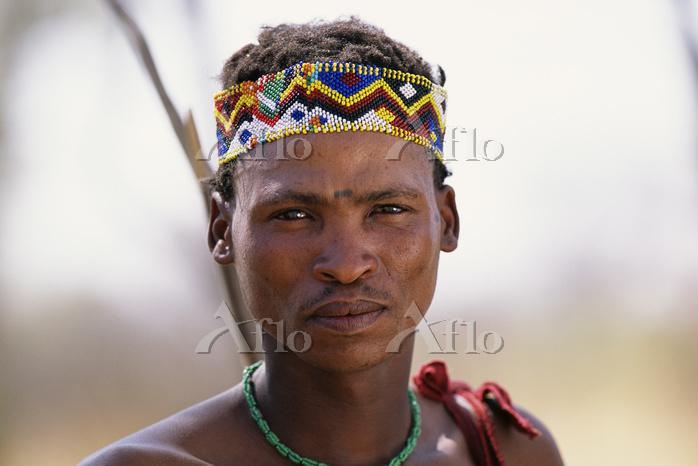 Portrait of Bushman in Traditi・・・