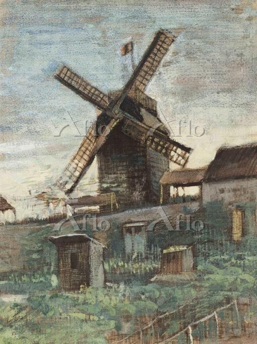 ゴッホ「ブリュット=ファンの風車」