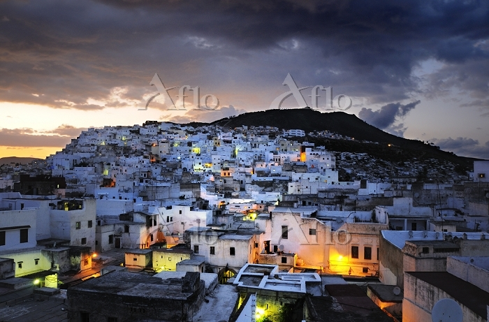 The city of Tetouan at sunset.・・・