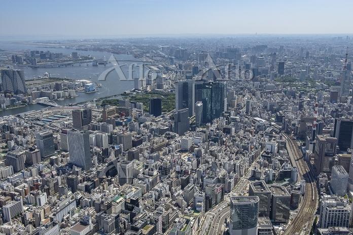 東京都 銀座六丁目10地区再開発より汐留・新橋方面