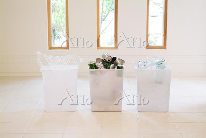 3個のリサイクル箱