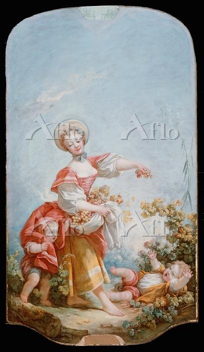 フラゴナール「ブドウ摘みの女」