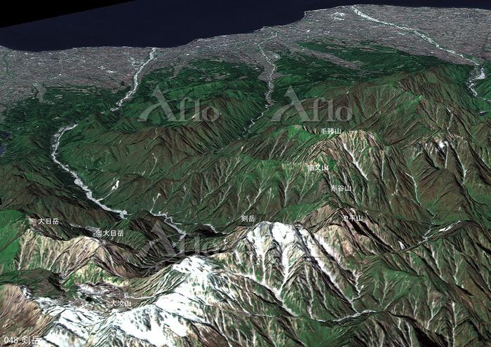剣岳とその周辺の山々 日本百名山 北アルプス
