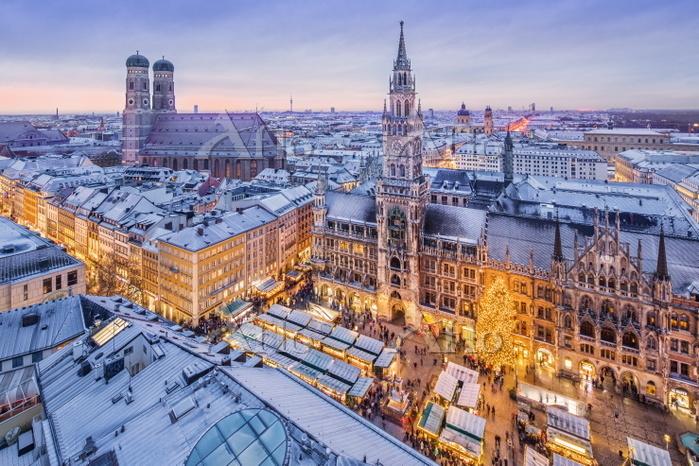 ドイツ バイエルン州 ミュンヘン マリエン広場 クリスマスマ・・・