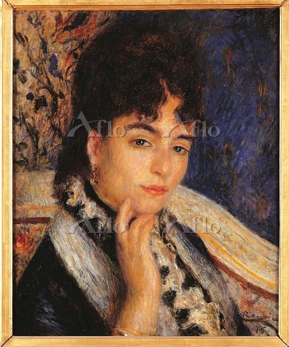 ルノワール 「アルフォンス・ドーデ夫人の肖像」