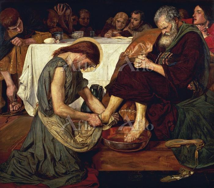 フォード・マドックス・ブラウン 「ペテロの足を洗うキリスト」