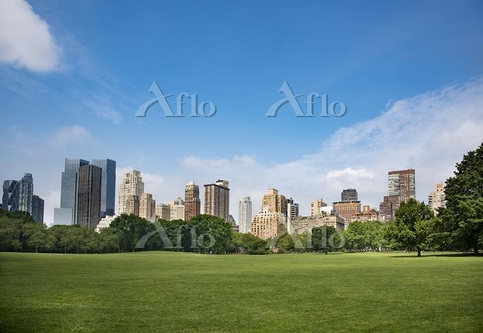 アメリカ合衆国 ニューヨーク セントラルパークからの高層ビル・・・