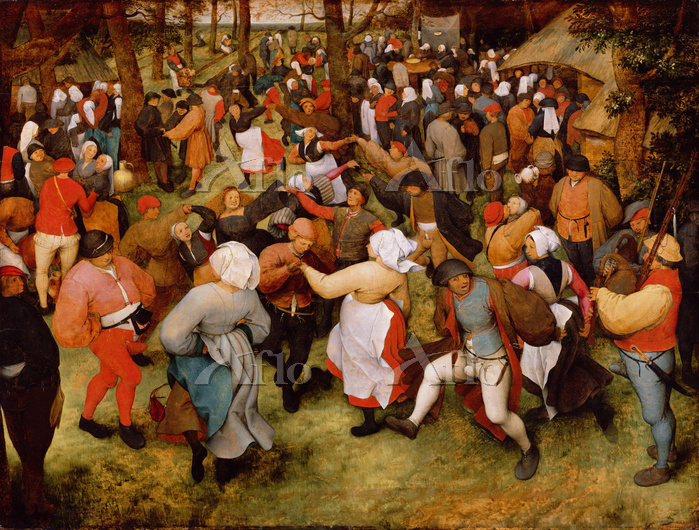 ピーテル・ブリューゲル 1世 「農民の婚礼の踊り」