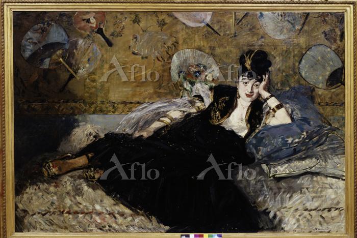 マネ 「団扇と婦人(ニナ・ド・カリアスの肖像)」