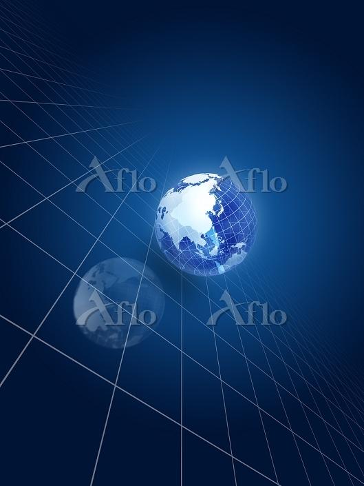 格子線上の地球儀
