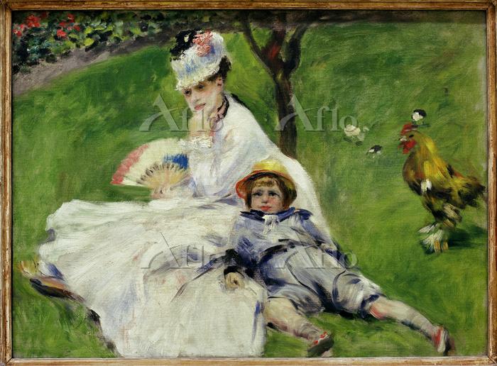 ルノワール 「モネ夫人とその息子」