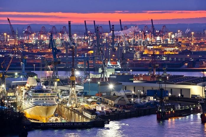 ドイツ ハンブルグ 港