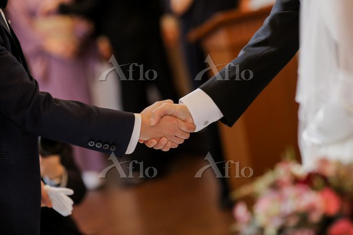 結婚式 新郎と父